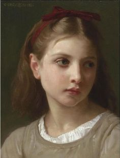 Une petite fille::William Bouguereau