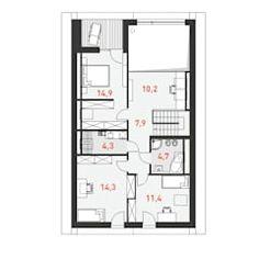 Projekt domu dostępny 4a tooba.pl skandynawskie domy | homify Cabana, Floor Plans, House Template, Scandinavian, Scandinavian Architecture, Style, Projects, Cabanas, Floor Plan Drawing