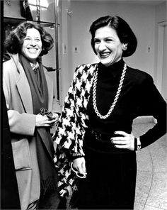 Fran Lebowitz and  Paloma Picasso
