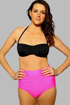 Minnie Basic High Waist Halter Bikini by CollectiveHearts on Etsy, $60.00