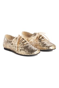 @ilovegorgeous Sparkly Brogues - Gold #AW14