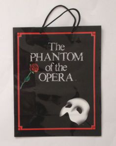 Vintage PHANTOM OF THE OPERA GIFT BAG Rare Collectible New 1986 Enesco Movie