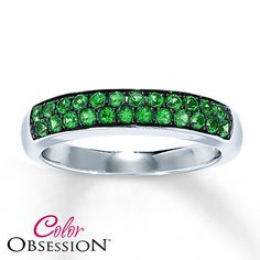 Green Topaz Ring Round-Cut  Sterling Silver