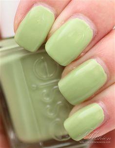 Essie nail polish... Pistachio green :)