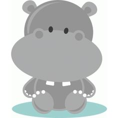 Silhouette Design Store - View Design #57924: baby hippo
