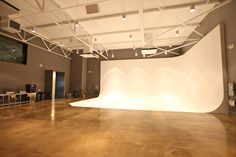 Corner Cyc wall- what a beautiful studio!  We love our corner cyc because it provides endless shooting possibilities! http://www.lecmedia.com