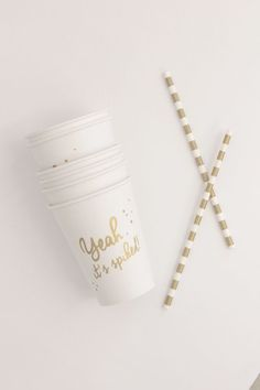 Sucre Shop: Yeah, It's Spiked Paper Cups, Set of 12