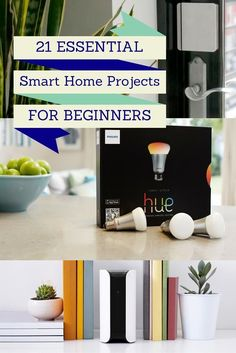 Looking to make your home a little smarter? Smart home projects range from basic to extremely advanced. If you're just looking to get started with some home automation technology, these smart home project ideas will keep you busy if you're a beginner. Home Automation System, Smart Home Automation, Home Automation Project, Smart Home Security, Home Security Systems, Home Improvement Projects, Home Projects, Smart Home Ideas, Smart Home Products