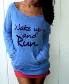 Running motivation sweatshirt [ SkinnyFoxDetox.com ] #workout #skinny #health