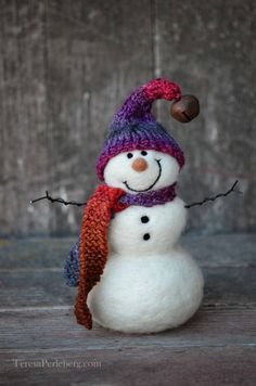 Snowman Christmas Decoration by BearCreekDesign