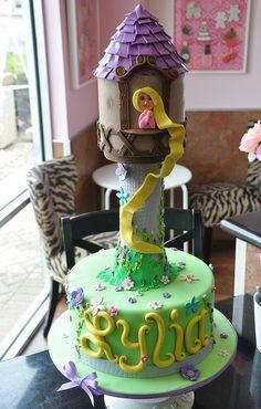 Repunzul Tower Cake by thecakemamas, via Flickr