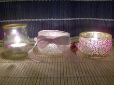 portavelas+reciclados Ideas Para Fiestas, Diy And Crafts, Candle Holders, Recycling, Old Things, Candles, My Favorite Things, Bottle, Gifts