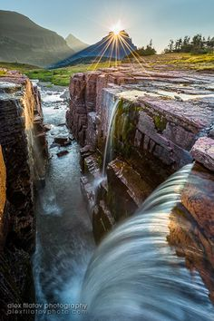 """""""Sun-Crowned Falls, Glacier National Park, Montana"""" directions of sorts"""