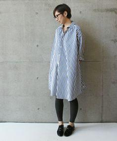 ストンと着たいシャツワンピ。 note et silence(ノートエシロンス)