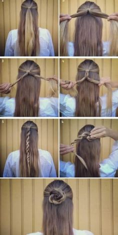 70 Super Easy DIY Hairstyle Ideas for Medium Hair . - 70 Super Easy DIY Hairstyle Ideas for Medium Hair . Easy Hairstyles For Long Hair, Trendy Hairstyles, Braided Hairstyles, Hairstyle Ideas, Fashion Hairstyles, Simple Hairdos, Hairstyle Tutorials, Easy Hairstyles For Everyday, Simple Hairstyles For School