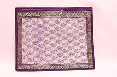 Purple-pattern-Saree-Bags-Case-Cover-Indian-Asian-Wedding-Accessory Saree Gown, Purple Pattern, Wedding Accessories, Asian, Cover, Frame, Fabric, Bags, Stuff To Buy