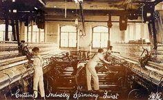 Lancashire, Cotton Mills Workers Spinning Twist
