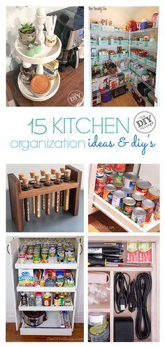 15 great kitchen organization ideas and diy's - the diy village Kitchen Caddy, Kitchen Pantry, Diy Kitchen, Organized Kitchen, Kitchen Ideas, Kitchen Tips, Kitchen Storage, Small Pantry Closet, Diy Spice Rack