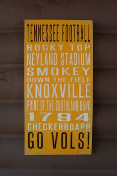 University of Tennessee Distressed Decorative Sign on Etsy, $65.00