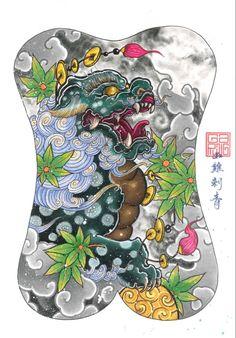 Back Piece Tattoo, Back Tattoo, Sexy Tattoos, Cute Tattoos, Shiva Tattoo Design, Fu Dog, Japan Tattoo, Irezumi Tattoos, Back Pieces