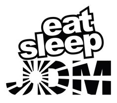 Eat Sleep JDM Rising Sun Car Body Window Bumper Vinyl Decal Sticker #Oracal