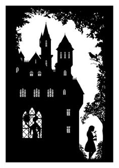 Snow White (Laura Barrett: Freelance Illustrator) Tags: white snow laura silhouette illustration fairytale fairy tale barrett guardian dibujos paso a paso Shadow Theatre, Tunnel Book, Paper Cutting Templates, Paper Animals, Paper Birds, Shadow Puppets, Kirigami, Silhouette Art, Freelance Illustrator