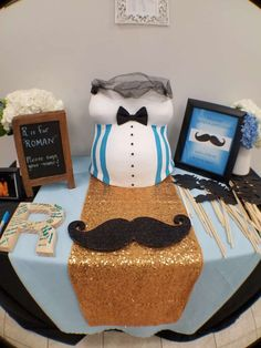Check out this mustache & bow tie baby shower party! See more party planning ideas at CatchMyParty.com!