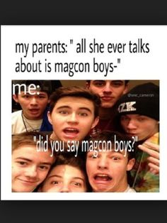 Magcon is all I talk about