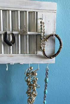 Reclaimed Barn Wood Knob Jewelry Hanger Rustic Knob Picture