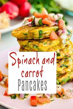 A delicious and simple recipe for healthy and lovely spinach and carrot pancakes. Savory / Savoury pancakes are awesome! Carrot Pancakes, Savory Pancakes, Syn Free Breakfast, High Protein Vegetables, Slimming World Recipes, Vegetarian Recipes Easy, Budget Meals, Beautiful Space, Family Life