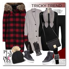 """Get the look"" by vkmd ❤ liked on Polyvore featuring Woolrich, Donna Karan, Relaxfeel, Rumour London, Jaeger, Helen Moore, MANGO, Gucci, Isabel Marant and TrickyTrend"
