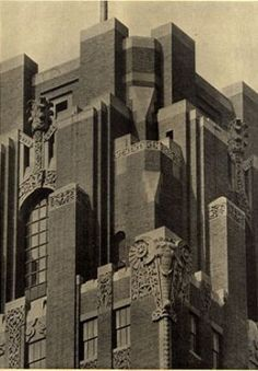 art deco architecture - new york architecture buildings - art deco movement.jpg Looks like an Art Deco Castle. Architecture Design, New York Architecture, Building Architecture, Byzantine Architecture, Art Deco Period, Art Deco Era, Blog Art, Estilo Art Deco, Art Deco Movement