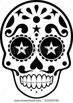 sugar skull stencil google search halloween. Black Bedroom Furniture Sets. Home Design Ideas