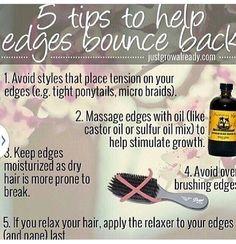 Good tips we've gotta keep those edges plz!
