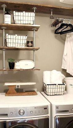 DIY Laundry Room Storage Shelves Ideas (60)