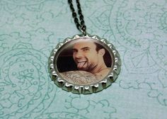 Adam Levine, bottle cap pendant necklace
