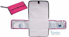 trocador fraldas portátil rosa. bolsos internos - bebê neném