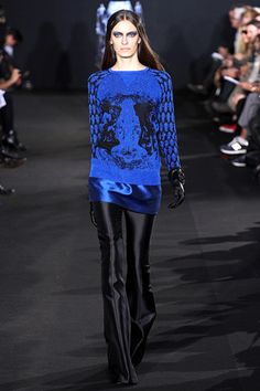 Prabal Gurung Fall 2012 RTW - I love this sweater, and this shade of blue. This sweater needs to be in my wardrobe.
