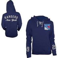 Old Time Hockey New York Rangers Women's Queensboro Lace-Up Hooded Sweatshirt.. Want it