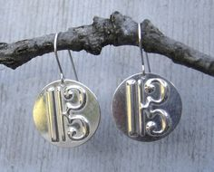 C Clef or Alto Clef Sterling Silver Earrings  by nicholasandfelice, $22.00