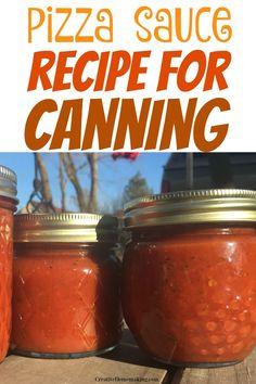 Easy recipe for canning pizza sauce with fresh tomatoes. One of my favorite canning recipes for beginners. Canning Pizza Sauce, Pizza Sauce Recipe Fresh Tomatoes, Canning Soup Recipes, Tomato Pizza Sauce, Pressure Canning Recipes, Tomato Pasta Recipe, Easy Canning, Fresh Tomato Recipes, Pasta Sauce Canning Recipe
