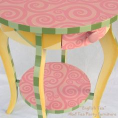 Hand Painted Accent Table Whimsical Home by madteapartyfurniture