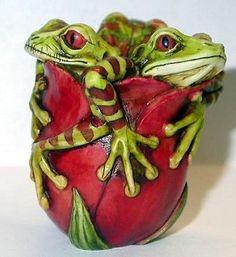 Neil Eyre Designs Former Harmony Kingdom Artist Easter Flower Tulip Frog u-pick