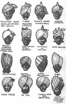 turban styles that were worn by the Indian Army: