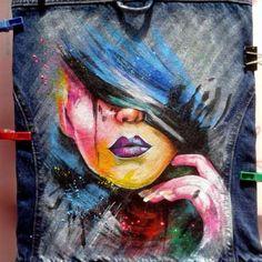 Роспись джинсовых курток, джинсов, жилеток Киев - изображение 3
