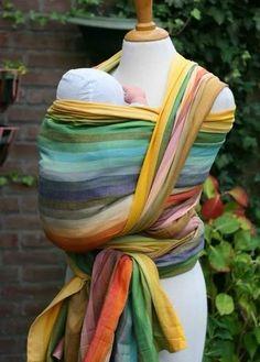 Girasol woven wrap Amitola azafran (yellow weft)