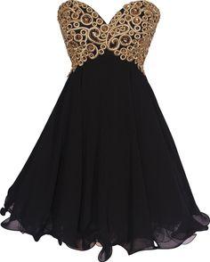 Amazon.com: Chiffon Embroidered Babydoll Prom Dress: Clothing