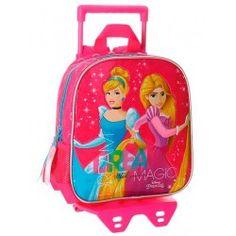 Mochila con carro Princesas Disney 25cm