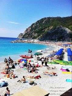 Once I did a day trip to #Cinque Terre. So beautiful villages in summer 3 hours by train from Milan!!! Cinque Terre#My footprint