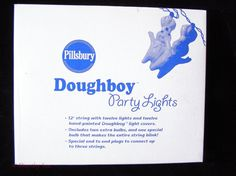 Pillsbury Dough Boy Party Lights Christmas String Lights 1999 #Pillsbury #poppinfresh #collectibles #collectables #advertisingcharacters #vintage #doughboy